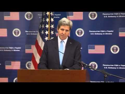 Kerry Condemns Russian Aggression in Ukraine