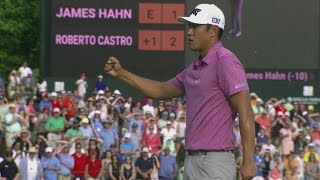 Highlights | James Hahn is victorious in sudden death playoff at Wells Fargo