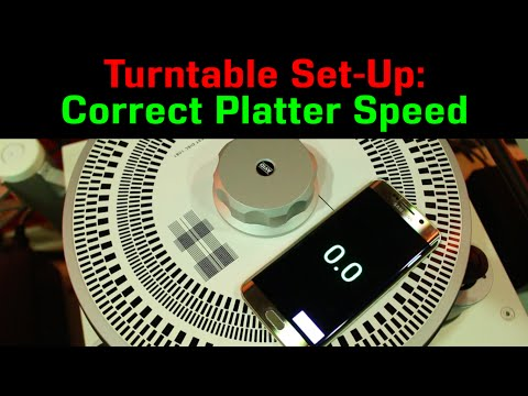Turntable Setup: Correct Platter SPEED