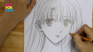 Hướng dẫn bé cách vẽ nhân vật nữ truyện tranh Manga Nhật Bản