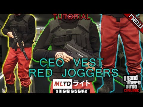 HOW TO GET RED JOGGERS/BLACK CEO VEST/BLACK TOP | 1.40 | GTA Online | Gunrunning clothing glitches