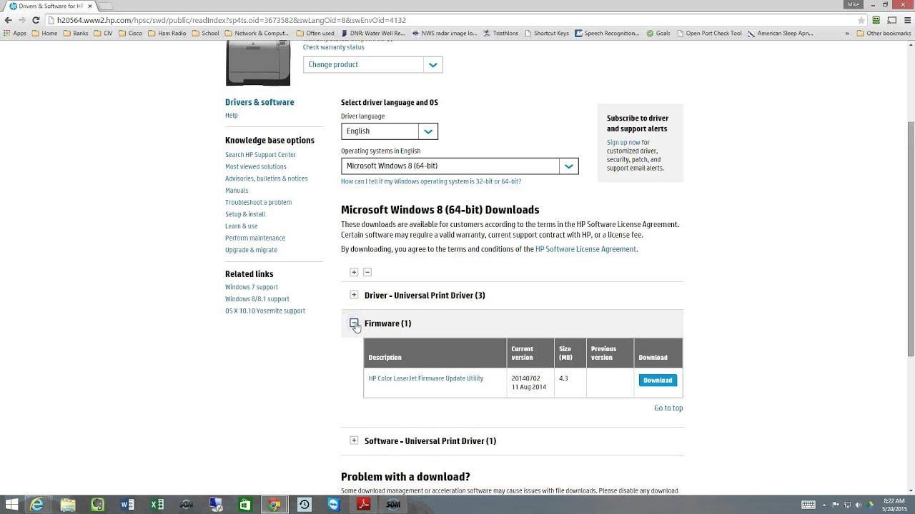 HP Printer Firmware update