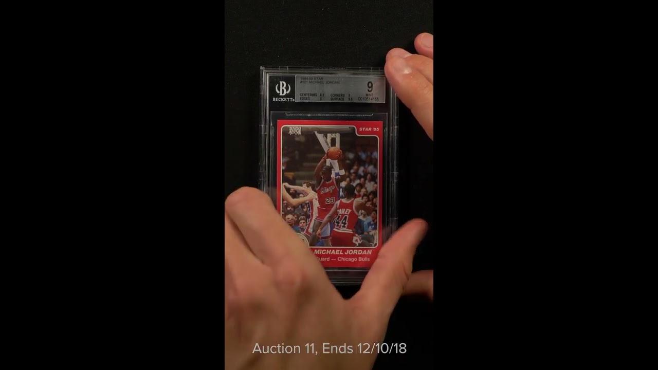 1984 85 Star Basketball Michael Jordan Rookie Rc 101 Bgs 9 Mint Pwcc