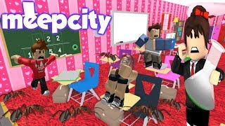 MEEPCITY THE HORMIGAS🐜ATACAN TO MY STUDENTS😱- ROBLOX