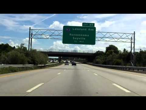 Sunrise Highway (NY 27 Exits 46 to 52) eastbound