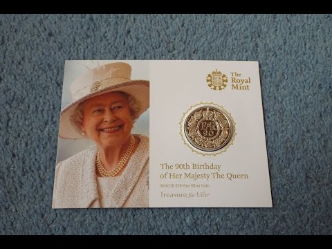 Royal Mint £20 Coin (Queen's 90th Birthday)