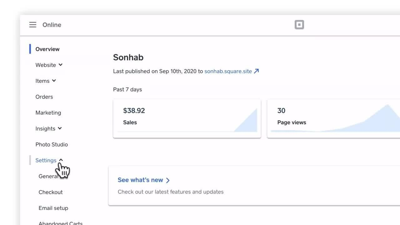 Set Up Self-Serve Ordering with Square