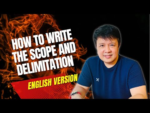 How To Write The Scope And Delimitation