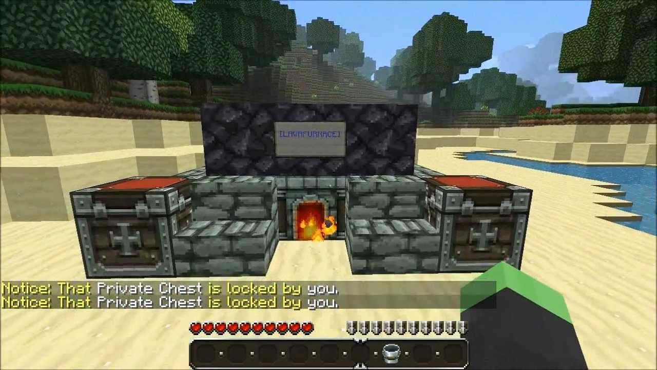 Bukkit Plugin Review - Lava Furnace - YouTube