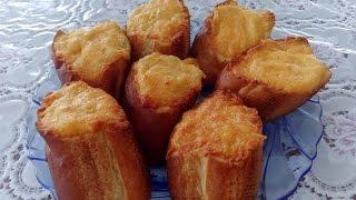 Батон с сыром и чесноком запеченный в духовке (бутерброд). Время готовить.