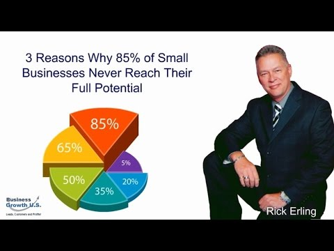video:3 Reasons Why 85% of Small Businesses Never Reach Their Full Potential | Marketing Strategy