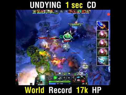 Dota 2 World Record 17k HP Undying 1 sec CD!