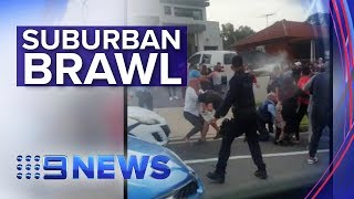 Brawl in Sydney suburb causes chaos