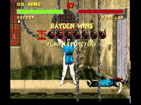 Mortal Kombat II (Snes) Rayden gameplay