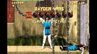 Mortal Kombat II (Snes) Rayden gameplay