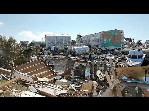 Boat Marina Obliterated By Hurricane Michael (End Times Footage)
