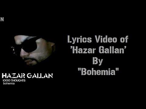 BOHEMIA - Lyrics Video of 'Hazar Gallan' By