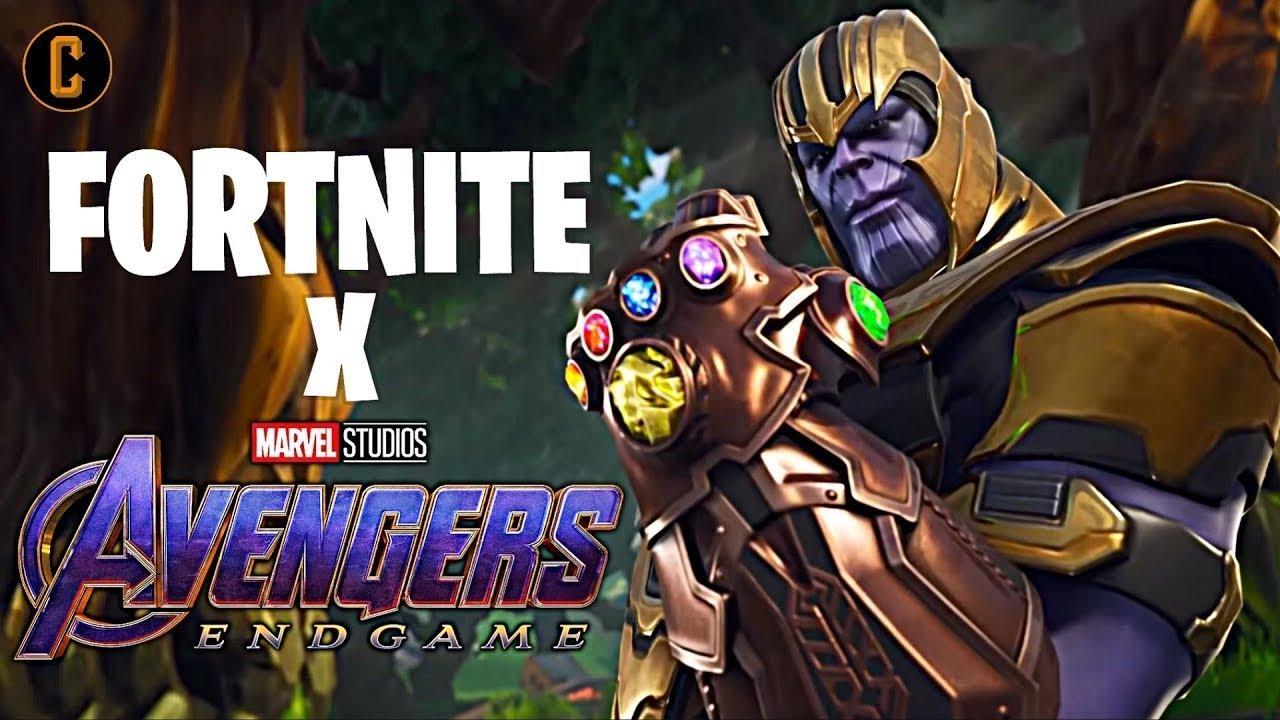 jugando fortnite con thanos fortnite x avengers  youtube
