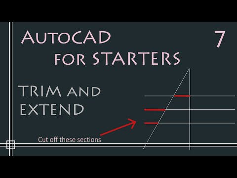 AutoCAD - How to Trim and Extend (in only 2 minutes)