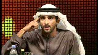 Sheikh Hamdan bin Mohammed AlMaktoum recites his latest poem at Dubai Poetry Forum 2011