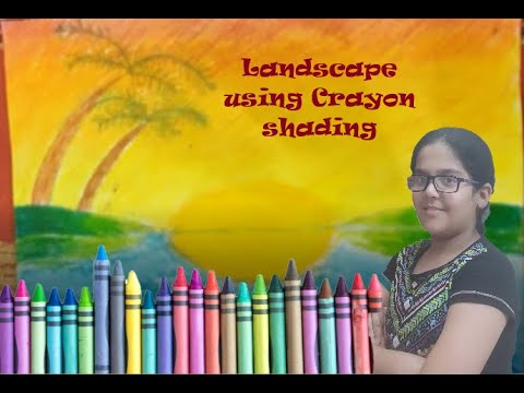 Easy Landscape Shaded Coloring for kids