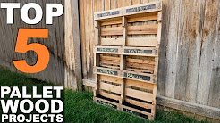 5 TOP PALLET WOOD PROJECTS || TUTORIAL