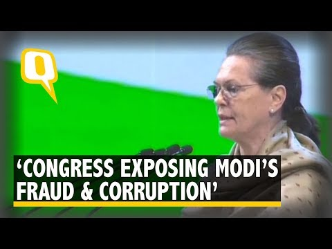 Modi, BJP Ministers Drunk on Power: Sonia Gandhi at Congress Plenary | The Quint