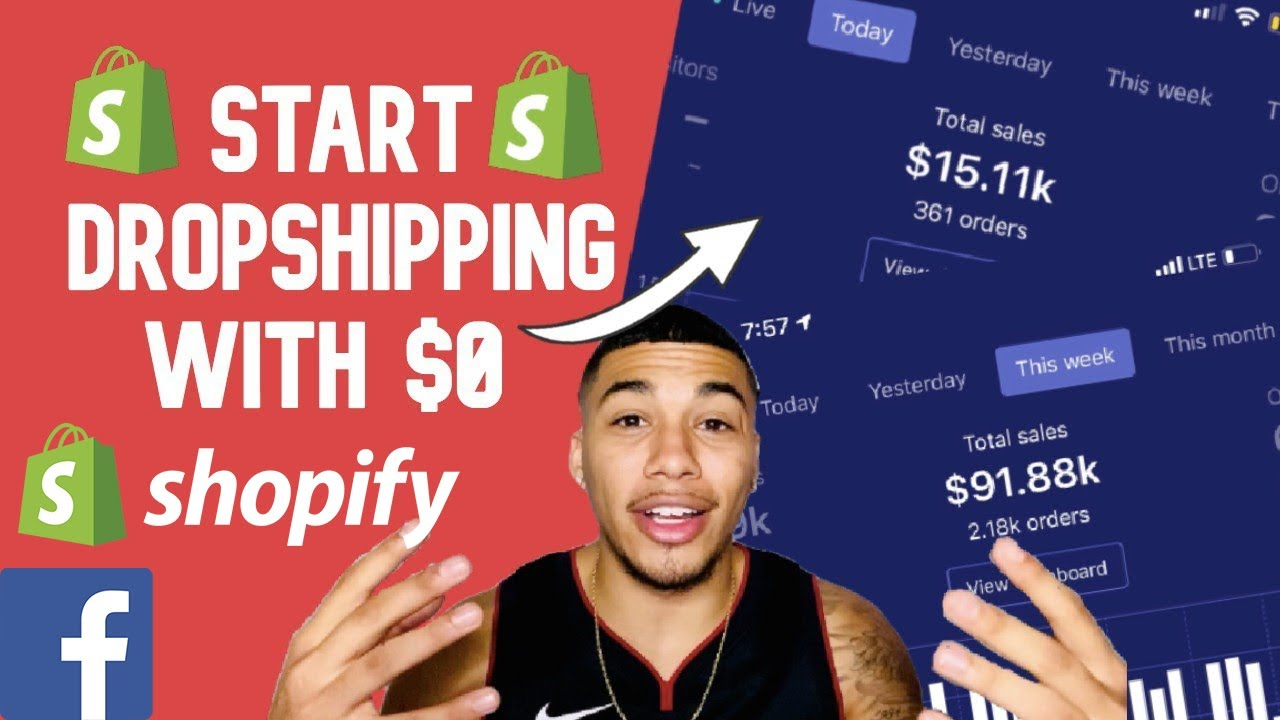 How To Start Shopify Dropshipping With ZERO DOLLARS in 2020