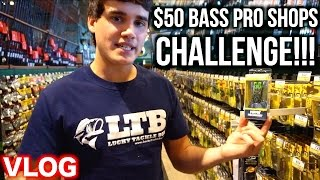 $50 BASS PRO SHOPS CHALLENGE!!! - Bass Fishing on a Budget Ep. 1