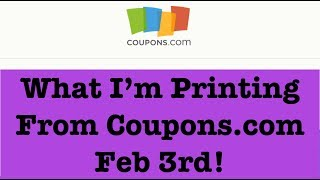 Coupons to Print from Coupons.com for Extreme Couponing |Feb 3rd|