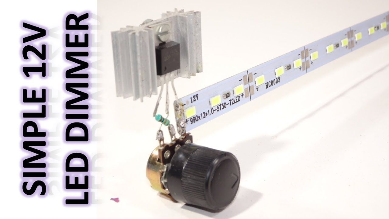 hight resolution of how to make 12v led dimmer circuit