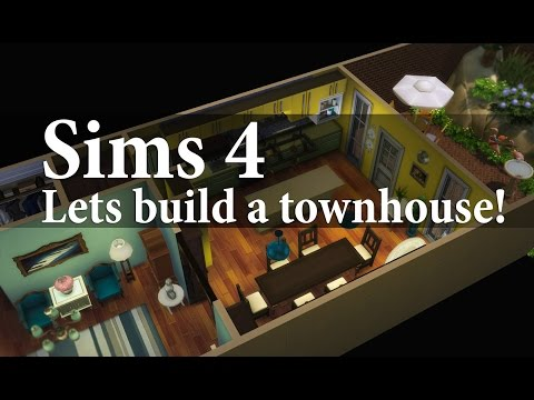 The Sims 4: Lets build a townhouse! Part 2