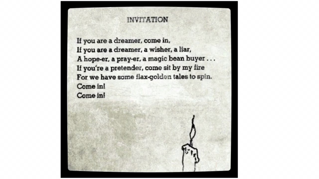Invitation By Shel Silverstein Youtube