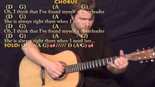 Cheerleader (OMI) Fingerstyle Guitar Cover Lesson in D with Chords/Lyrics