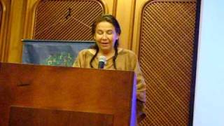 Marga López lee su poema