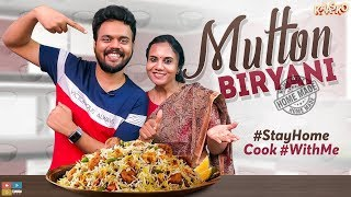 NIKHIL's MOM || MUTTON BIRYANI AT HOME || #StayHome Cook #WithMe | Kaasko | Tamada Media
