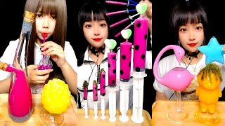 ASMR DRINKING SOUNDS Mysterious water Mukbang mix that's been colored with food coloring #224