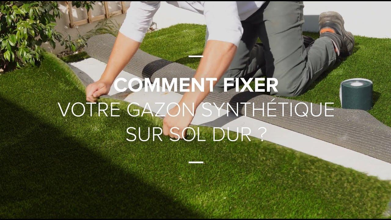 Comment Fixer Votre Gazon Synthetique Sur Sol Dur