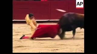Matador has close encounter with bull