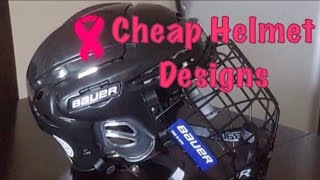 CHEAP Hockey Helmet Designs Tutorial (How to make your own!)