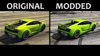 GTA V - Original vs Graphic mod [Side by Side]