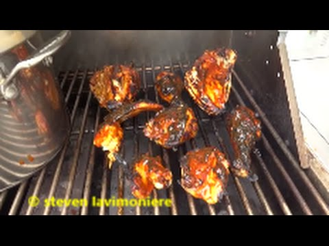 BBQ chicken on the gas grill with corn on the cob - YouTube