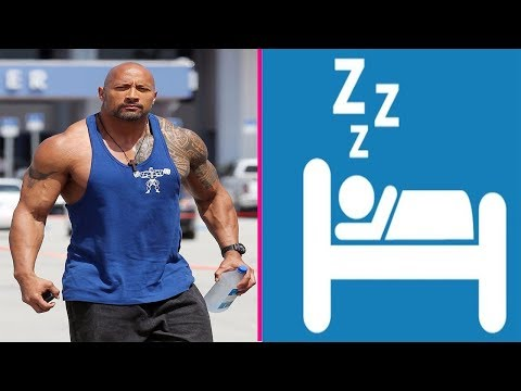 The Rock Sleeps 3-5 Hours And Still Claims Natural - Steroids Or Natty