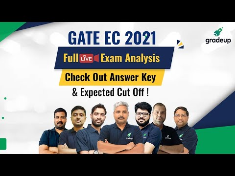 GATE 2021 Electronics Full Exam Analysis & Answer Key | Live 7th Feb Shift 2 | Do not Miss!! Gradeup