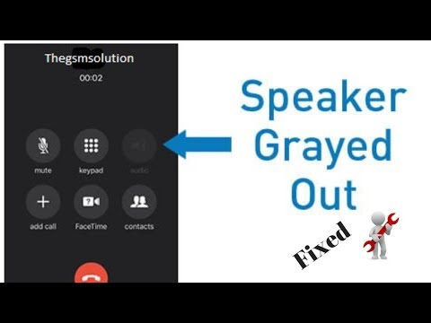iphone7 Speaker Greyed out solution 2018 - YouTube