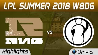 RNG vs IG Highlights Game 2 LPL Summer 2018 W8D6 Royal Never Give Up vs Invictus Gaming by Onivia