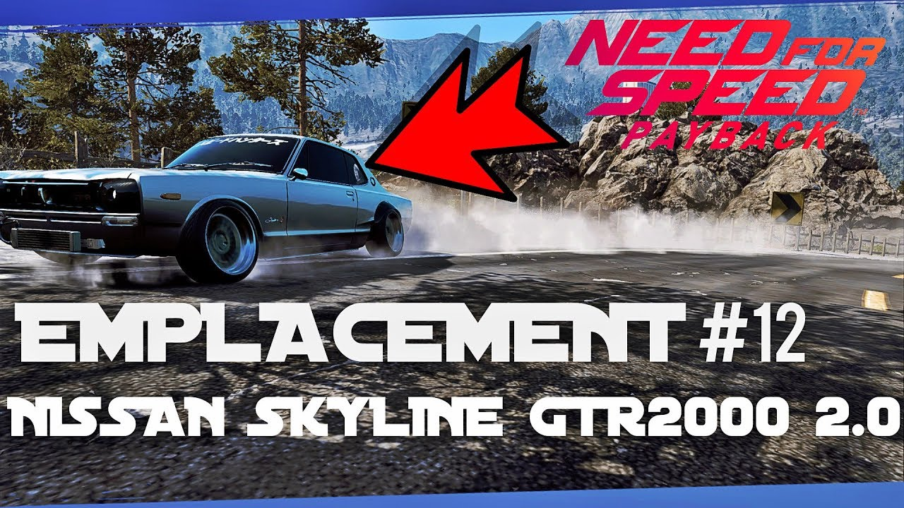 need for speed payback emplacement voiture abandonn e 12 nissan skyline gtr 2000 2 0 youtube. Black Bedroom Furniture Sets. Home Design Ideas