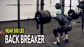 back breaker near 500 lbs squat gone wrong injury