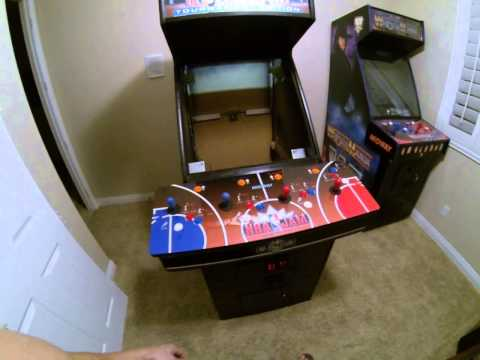 Midway Nba Jam Dedicated Arcade Jamma Cabinet machine In the Game room