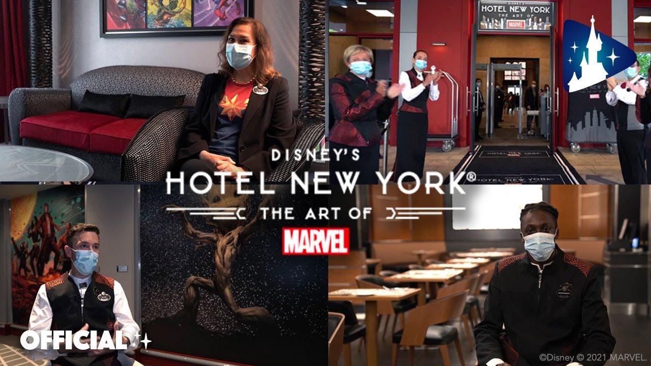 Découvrez les portraits de trois Cast Members du Disney's Hotel New York – The Art of Marvel